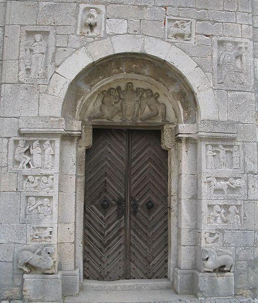 Nordportal von St. Andreas, Bad Gögging, nahe Regensburg; um 1200 [wikipedia]