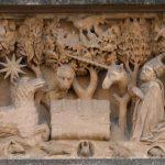 Relief über dem Kapelleneingang des Merton Colleges, Oxford [merton]