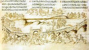 Utrechter Psalter (Psalm 43): Reiter ohne Steigbügel, 835 [Emily Kittell-Queller]