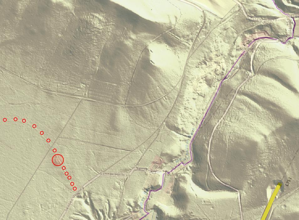 Abb. 7: Der Durchgang durch den Teutoburger Wald am Schoppketal [TIM-Online]